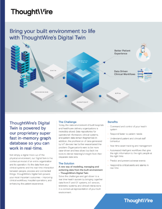 Smart Hospital Digital Twin Brochure - ThoughtWire